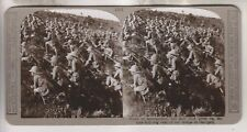 WWI BRITISH STEREOVIEW - BULL-DOG RUSH OF OUR TROOPS AT GALLIPOLI