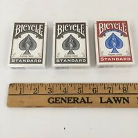 Lot of 2 Black and 1 Red Standard Bicycle Playing Cards Poker - New Sealed