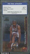 1998-99 Topps Finest Vince Carter Raptors RC Rookie w/ Coating FA 10 GEM MINT