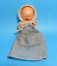"""A/O 1930 German Mini 3"""" Composition Baby Doll Hertwig? Hooded Jacket Jointed"""