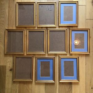 Job Lot Small Picture Photo Frames Art Painting Crafting x10 Some With Mounts