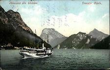 Schiffe um 1915 Österreich OÖ Schiff passiert Traunsee Ebensee Stempel Gmunden