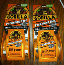 2x GORILLA Heavy Duty Packaging Tape, Tough & Wide, 20yds (2.83in width)