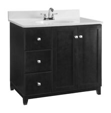 Design House  Single  Dark  Vanity Cabinet  33 in. H x 36 in. W x 21 in. D
