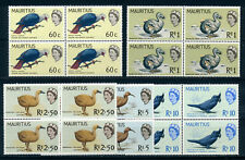 MAURITIUS 1965 DEFINITIVES SG327/331(HIGH VALUES) BLOCKS OF 4 MNH