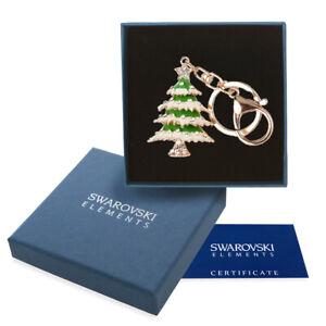 Portachiavi oro donna Swarovski Elements originale G4Lov Albero Natale borsa