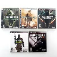 Call Of Duty Games Lot Of 5 Sony PlayStation 3 Complete Tested & Works