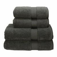 Christy Supreme Hygro Towel Bath Sheet Charcoal 100% Cotton 650gsm