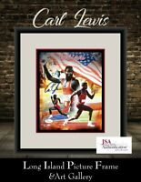 Carl Lewis 10 Olympic Medals Signed Photo  8x10 NEWLY CUSTOM FRAMED JSA COA