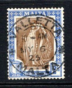 Malta 1922-26  2s. Brown & Blue SG135 Used