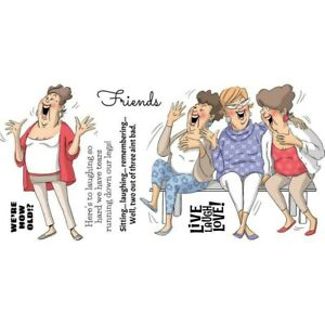 Art Impressions Girlfriends Clear Stamps - Live Laugh Love