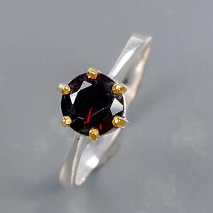 Fashion women ring Garnet Ring Silver 925 Sterling  Size 6.75 /R178850