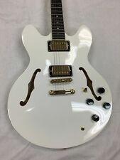Allen Eden Guitars Bluesville Electric Guitar Trans White with Hardshell Case