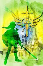 The Legend of Zelda Link Gamer Art 11 x 17 High Quality Poster