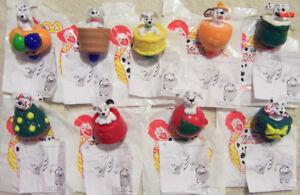 2000 McDonalds/Disney 102 Dalmatians COMPLETE SET of 9 SPINNER TOPS - Brand New!