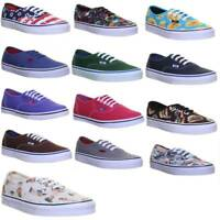 Vans Authentic Mens American Flag Canvas Trainers Uk Size 6 - 12