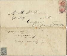 Orange Free State 1887 Folded Entire > Phillipolis OVS Resent Cape Town ex COGH