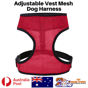Dog Harness For Small Dogs Adjustable Breathable Mesh Vest Puppy Pet Australia