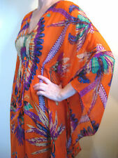 Errol Arendz Dusud Size M or 12 Orange Purple Tribal Kaftan