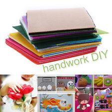 40PCS Rainbow Colorful Felt Sheets DIY Craft Polyester Wool Blend Fabric 10x15cm