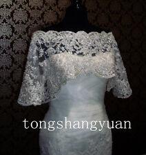 Bling Bling Lace Bridal Jacket Beading Sequin Half Sleeve Wedding Bolero Bespoke