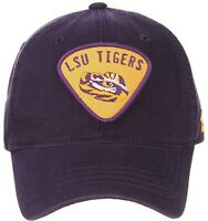 LSU Tigers Hat Cap Purple Cotton Adjustable Strap With Buckle NCAA Licensed NWT