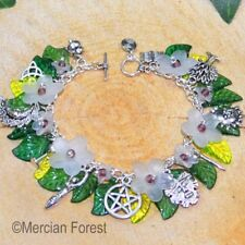 Wiccan Charm Bracelet - Hawthorn- Pagan Jewellery, Wiccan, Witch, Pagan Bracelet