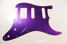 Brushed Purple Anodized  Aluminum HSS Strat Pickguard- Fits Fender Stratocaster