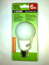 3 ampoules basse-consommation 6w B22 mini globe