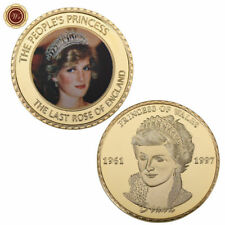 WR Royal Princess of Wales Diana Commemorative Collector Gold Coin Crown Edition