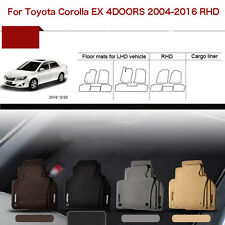 "Full Set 1/2""Thick Solid Nylon Interior Floor Carpet Mats For RHD Toyota Corolla"
