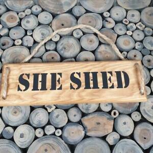 Handmade 'She Shed' Wall Plaque