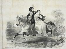 Nice JULES COLLIGNON LITHOGRAPHIE Musique GARRET Tastu Cheval AUBERT XIX°