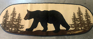 Bear In The Woods Hall Runner Oval