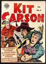 KIT CARSON AVON #2 1950 SOLID VG/VG+ GLOSS GREAT KINSTLER HEADLIGHTS COVER!!