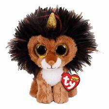 TY BEANIE BOOS - RAMSAY LION w HORN - STUFFED ANIMAL SOFT PLUSH TOY 15cm **NEW**