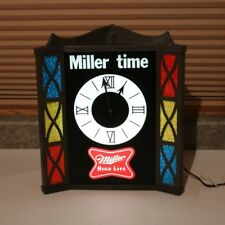Miller Beer Lighted Clock