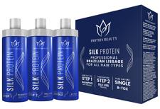 Lissage brésilien à la proteine de soie SILK PROTEIN 0% formol 3*100 ml +PINCEAU
