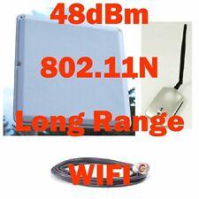 SuperLinxs +48dBm Free Internet WIFI Adapter 20dBi Antenna 25' Coax 16'USB Cable