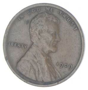 XF+ 1909 Lincoln Wheat Cent - 1st Year Issue - Great Condition *022