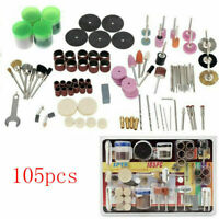 105Pcs Mini Electric Drill Grinder Rotary Tool Grinding Set New Polishing Y0H9