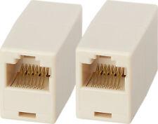 2 X Rj45 Cat 5e Network Coupler Ethernet In-line LAN Adapter Converter BULK Buy