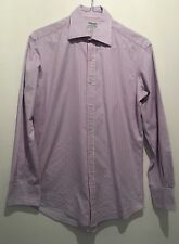 15.5 T M LEWIN SLIM FIT BLUE/PINK STRIPED SHIRT SUMMER/TOWIE/WORK/OFFICE/XMAS