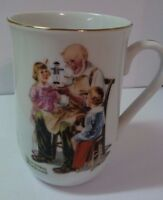 "1985 Norman Rockwell ""The Toymaker"" Mug/Cup Vtg Rockwell Museum Japan"