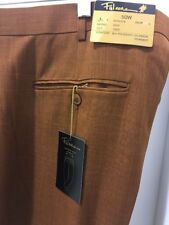 NWT FALCONE PLEATED 90% POLYESTER 10% RAYON SUMMER RUST PANTS MEN'S SIZE 50/37