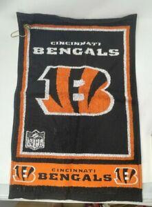 "CINCINNATI BENGALS 16"" X 19"" Jacquard Woven Team Golf Towel NFL Licensed"