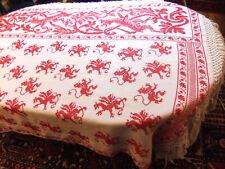 Pannello ricamato mano di Grifoni 2m60 x 1m40 - per plaid, tenda o copriletto