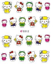 Nail Art Sticker 3D Decals Transfer Stickers Hello Kitty (E012)
