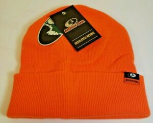 MOSSY OAK Insulated Beanie Hunter Blaze Orange Cold Weather Hat Toboggan HUNTING