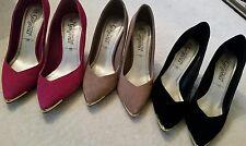 New Look pink black real genuine suede court shoes heels sz 5 £10 each